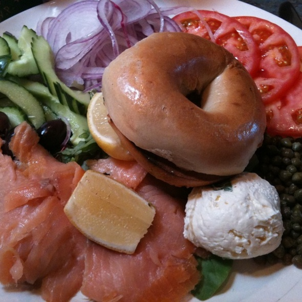 Lox And Bagel Platter @ Sabrina's Cafe