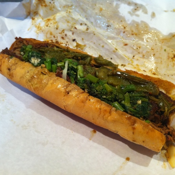 Beef Brisket Sandwich With Broccoli Rabe @ Dinic's Oven Roasted Beef & Pork