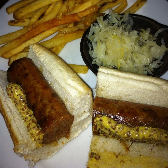 Brat And Fries - Miller Time Pub & Grill - Milwaukee, Milwaukee, WI