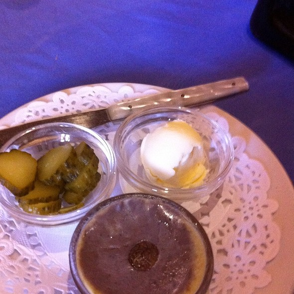Homemade Pate, Butter And Pickles