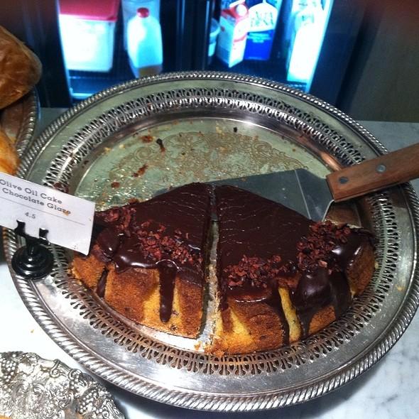 Olive Oil Cake With Chocolate Glaze @ Milo And Olive