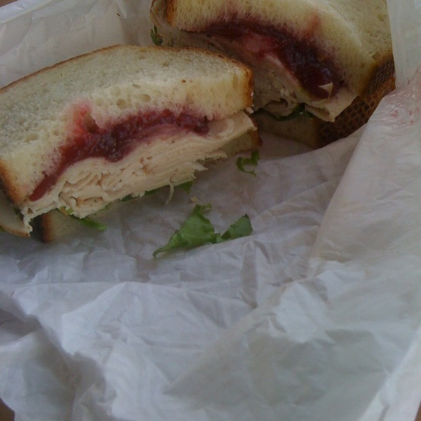 Turkey and Cranberry Sandwich @ Boudin Sourdough Bakery & Cafe: Fisherman's Wharf