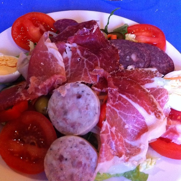 Salad With Mix Cold Meat (Embotido)