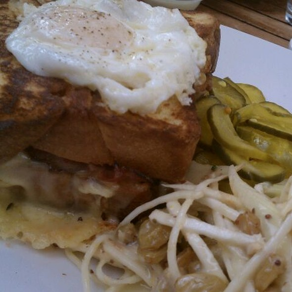Croque Monsier With Egg @ the girl & the fig