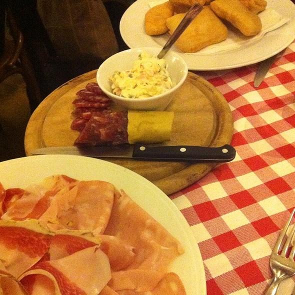 Salame, Mortadella, Coppa, Lardo Di Colonnata, Gnocco Fritto E Insalata Russa @ La Pesa