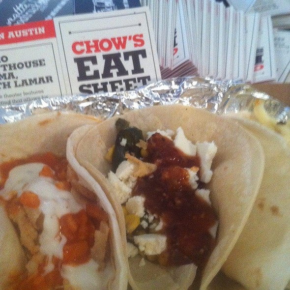 One Of Each Type Of Tacos Served @ foodspotting sxsw street food fest