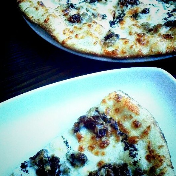 Black Truffle Blue Cheese Pizza With Dates And Pork Belly Confit @ Second Bar + Kitchen