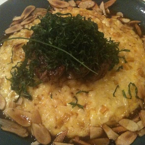 File Mignon Recheado Com Brie E Risotto De Abobora @ Francisco Gastronomia e Cultura