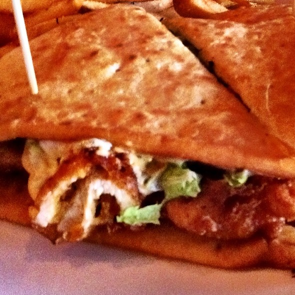 Twisted Rooster Flatbread Sandwich @ Twisted Rooster