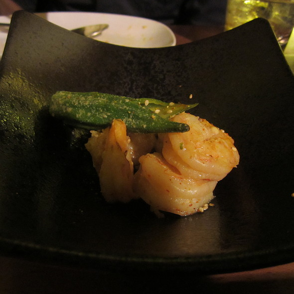 Spicy Okra Shrimp @ Don Don Izakaya