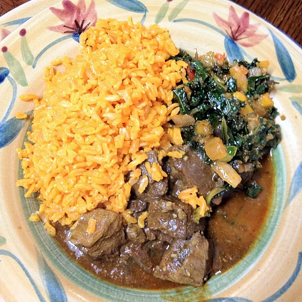 fav spot in morgantown: kenyan cafe! lamb stew.   porn #wv @ Kenyan Cafe