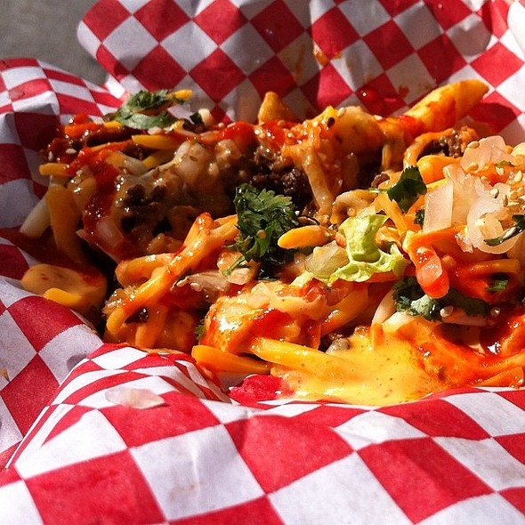 kimchi fries  #sxswi @ Korean BBQ Tacos
