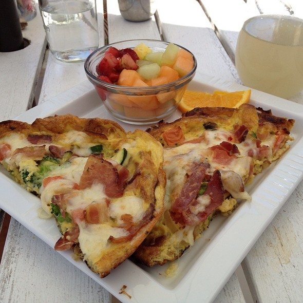 Veggie Frittata + Bacon @ To The Point Cafe