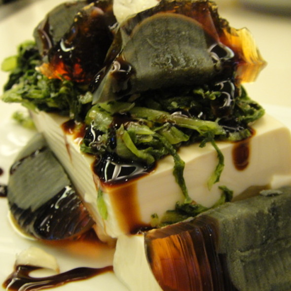 Chilled Tofu with Century Egg @ Mann Hann