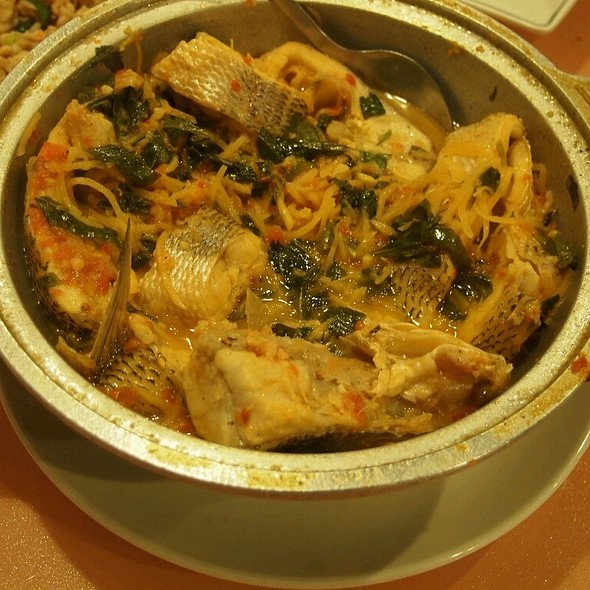 Seabase Braised With Sour Bambooshoots