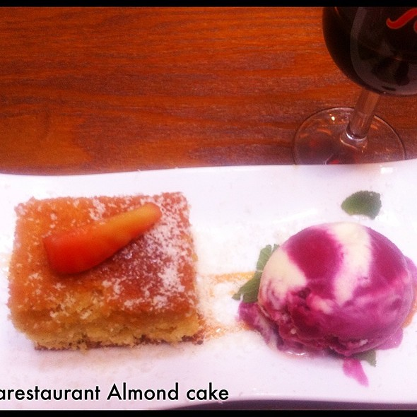 Almond Cake, Red & White Grape Ice Cream @ Cava Spanish Restaurant & Tapas Bar
