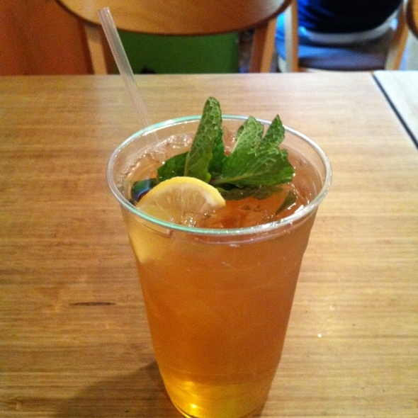 Green Tea Iced Tea with Mint & Lemon @ Cafe Ole