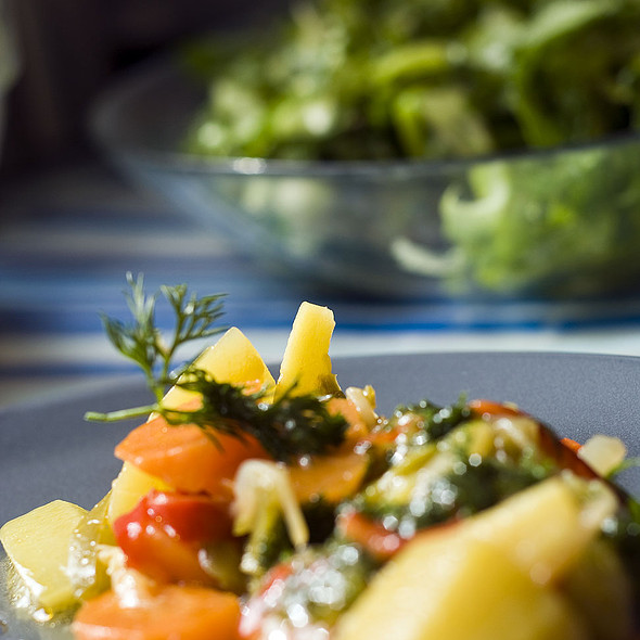 courgettes with paprika in olive oil @ Home