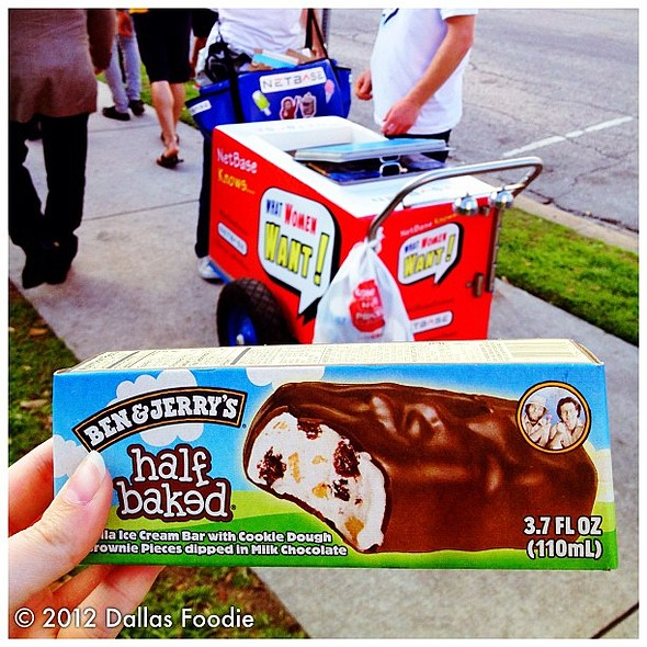 more #free @benandjerrys #icecream. according to #netbaseknows, ice cream is the no. 1 thing that women online most say they want.