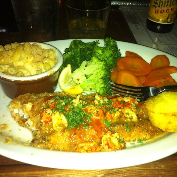 Pecan Crusted Catfish @ Moonshine Patio Bar & Grill