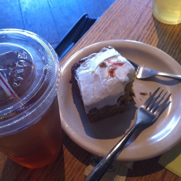 Vegan Carrot Cake And Ice Tea @ Dominican Joe Coffee Shop