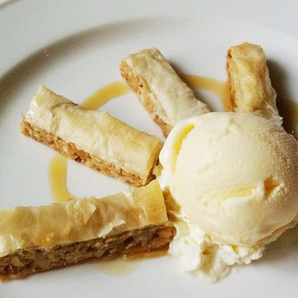 Baklava Cashew Nut And Vanilla Ice Cream @ Bibliotheque