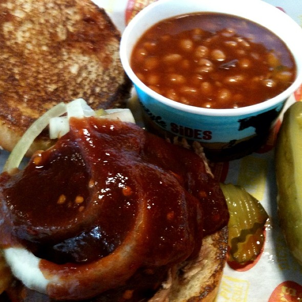 Pulled Pork And Beans @ Dickey's Barbecue Pit