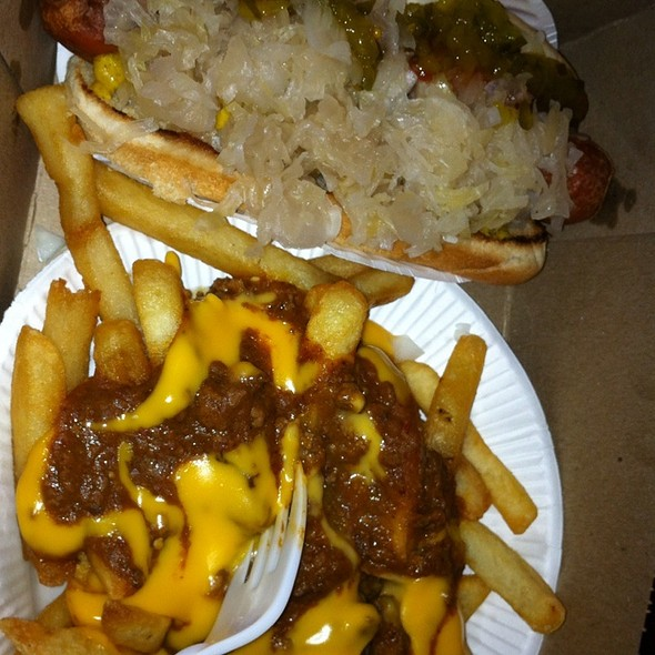 Chili Cheese Fries And Loaded Hotdog @ Hiram's Roadstand