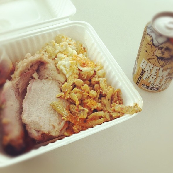Porchetta, Mac And Cheese, Chickpeas @ SFO Terminal 2