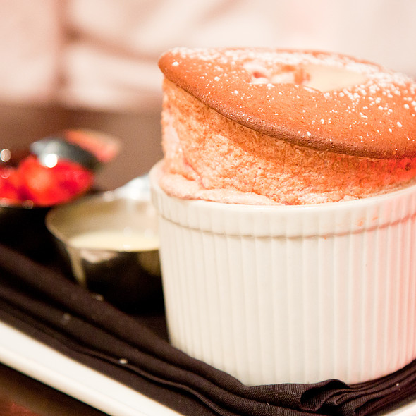 Strawberry Souffle - 5A5 Steak Lounge, San Francisco, CA