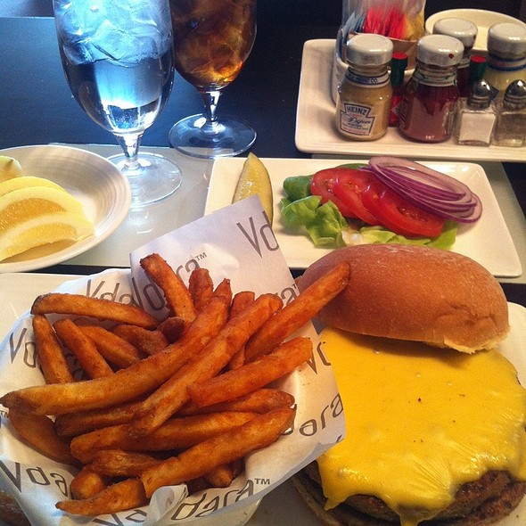 veggie burger with seasoned fries @ Vdara Hotel