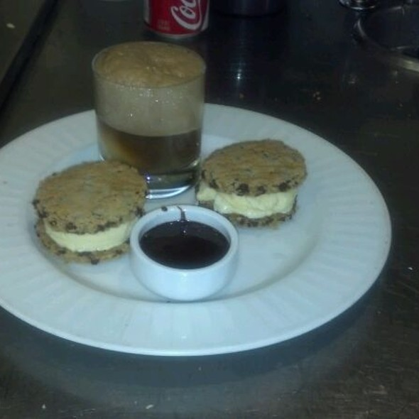 Ice Cream Sandwiches with Coke Float @ Campanile Restaurant