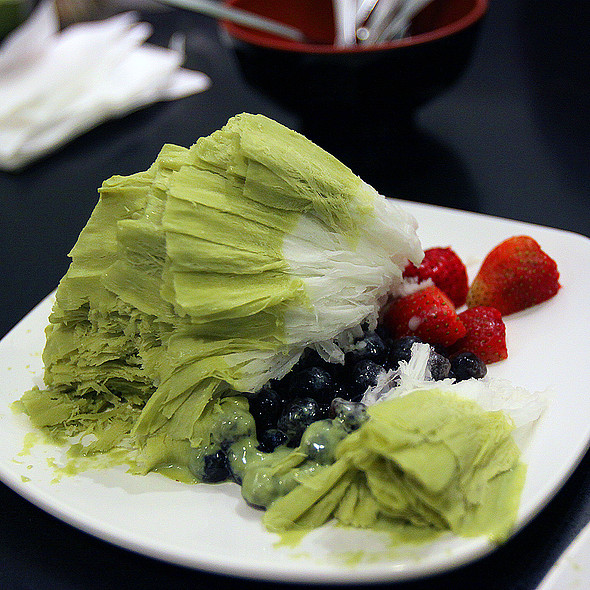 Green Tea Flavored Ice Shaving @ Tong Pak Fu