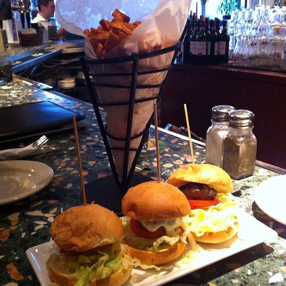 Lamb Sliders And Sweet Potato Fries - James Hoban's Irish Restaurant, Washington, DC