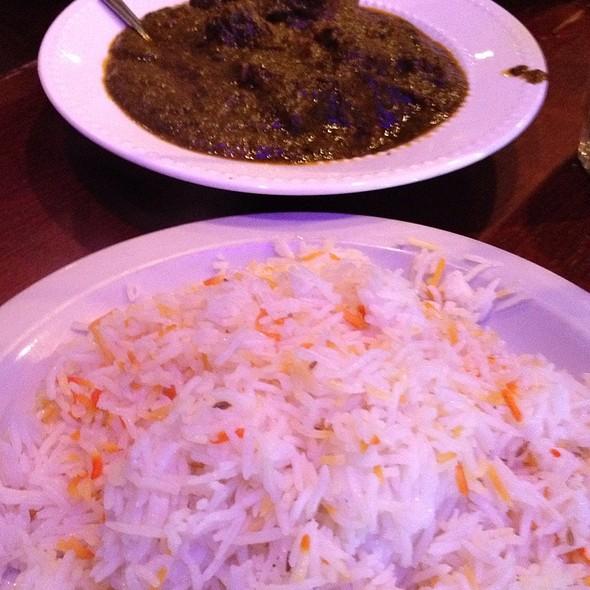 Lamb Palak With Tri-Color Rice @ Cedars Restaurant