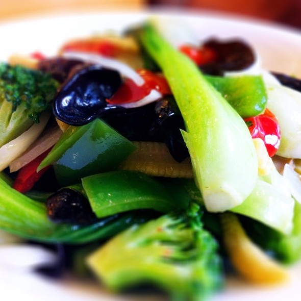 Stir Fried Green Dragon Vegetables @ Red Chilli Sichuan Restaurant (Chatswood)