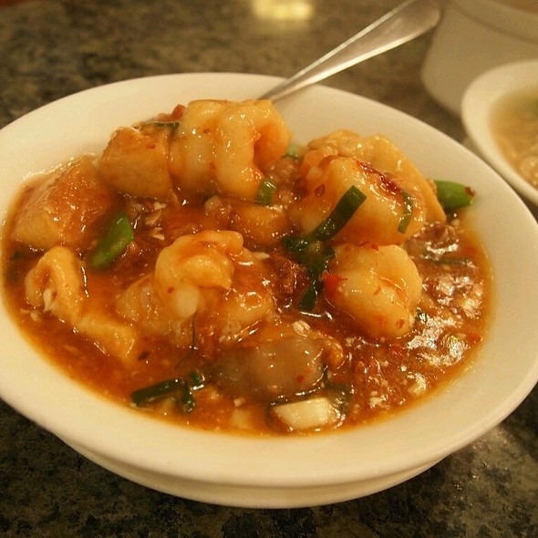 Sweet And Sour Prawns And Tofu @ 欣葉台菜創始店