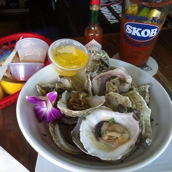 Dozen Steamed Oysters @ Siesta Key Oyster Bar