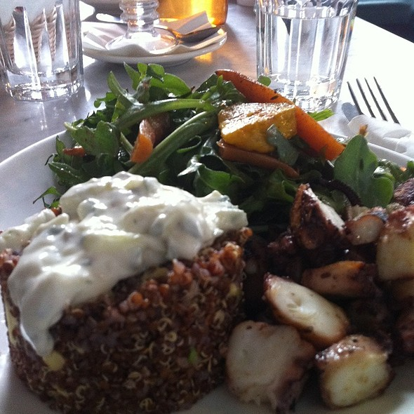 Red Quinoa Salad With Grilled Octopus @ Cafe Bar