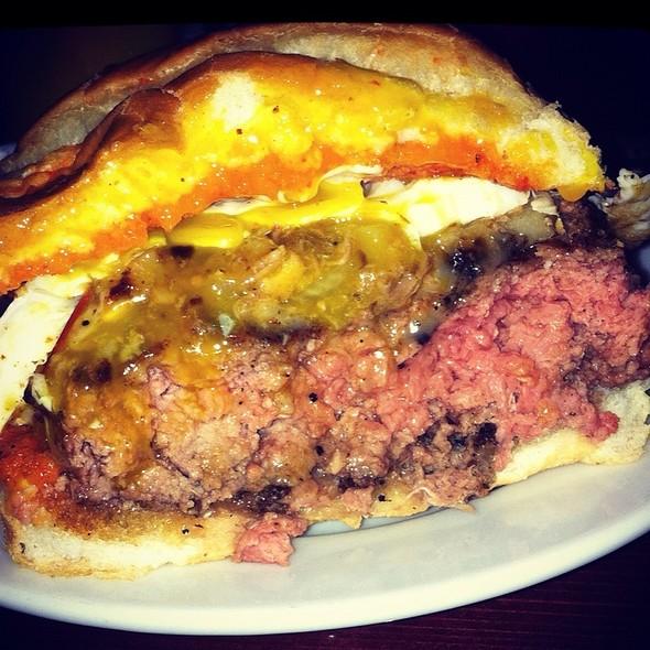 """The """"Red Dragon Burger"""" as advertised on thr Jason Ellis talk radio @ The Bad Apple"""