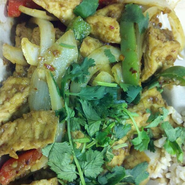 Spicy Lemon Grass Tofu  @ Green Cafe Vegan Cuisine
