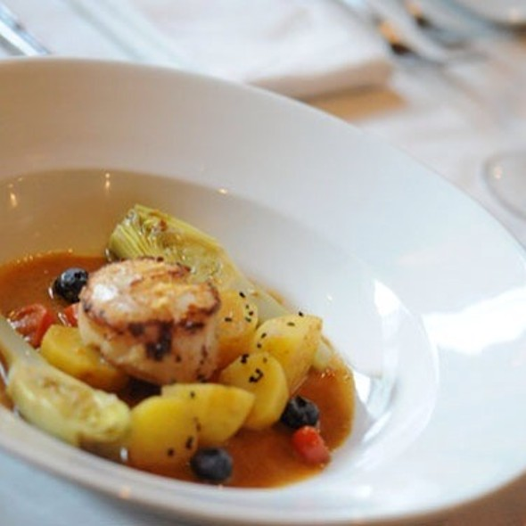 Day Boat Scallops Provencales @ Rue Saint Jacques Restaurant