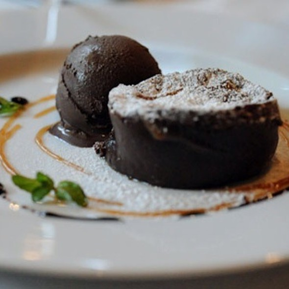 Warm Chocolate Cake @ Rue Saint Jacques Restaurant