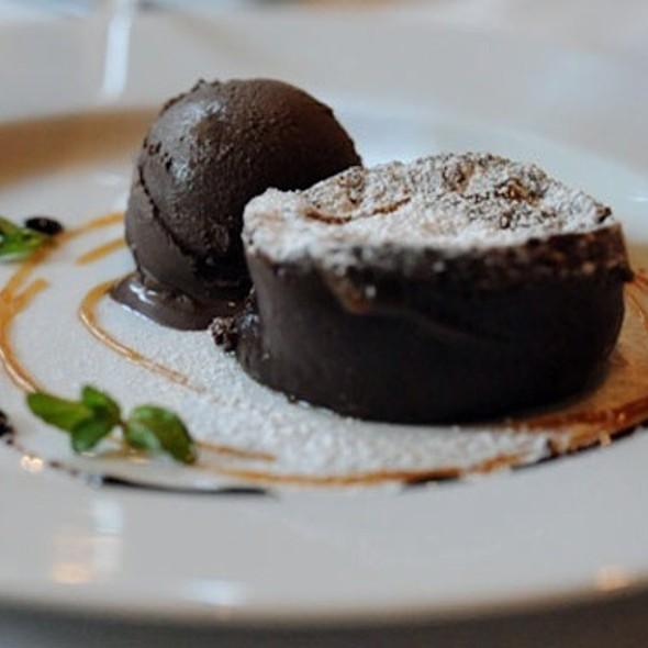 Warm Chocolate Cake @ Rue Saint Jacques Restaurant