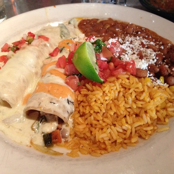 Seafood & Veggie Enchiladas With Mexican Rice And Charro Beans @ Mexico Cantina Y Veracruz Cooking