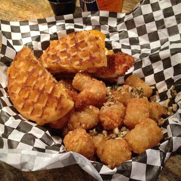 Grilled Chicken Sandwich And Waffle Fries @ Republic Featuring Drewskis