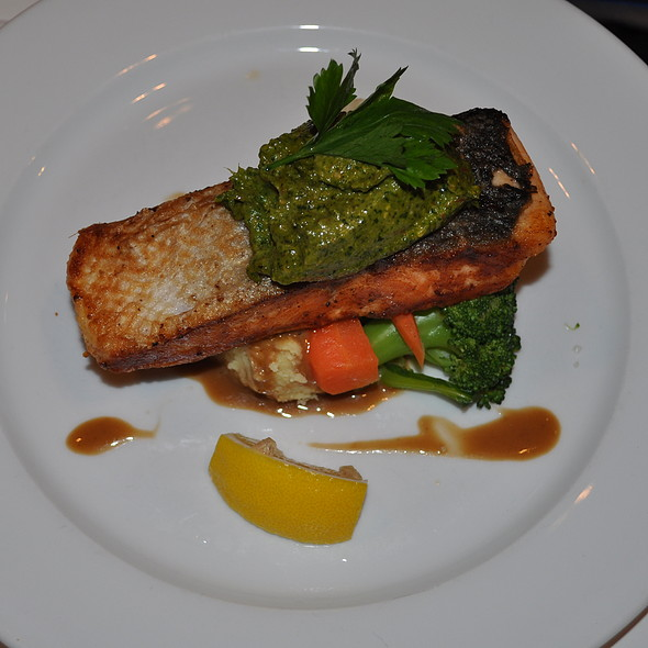 Pan Seared Salmon  @ Harvest Inn Cafe