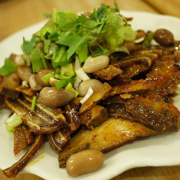 Stewed Pig's Ear, Tongue, Tripe, Hard Tofu, & Peanuts w/ Chili Oil Sauce @ Liang's Village Cuisine
