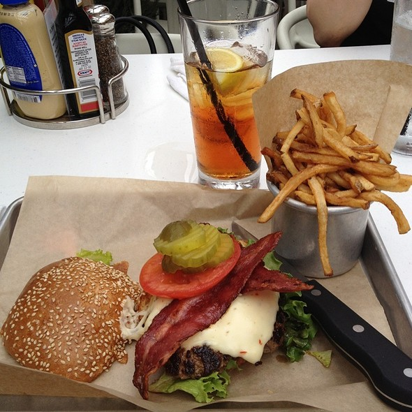bison burger and fries @ Burger Jones