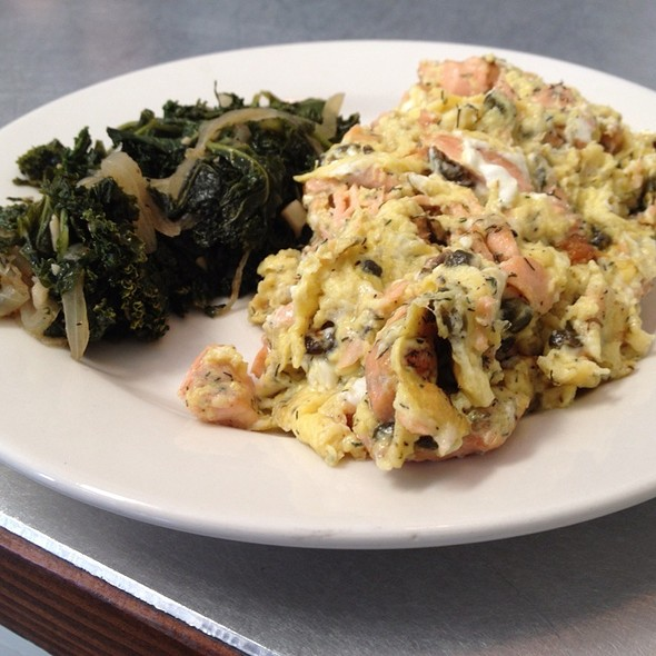 Salmon Scramble @ Urban pL8 restaurant